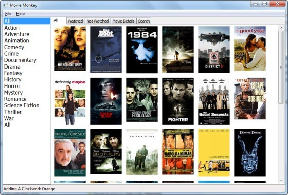 Free movie organizer program